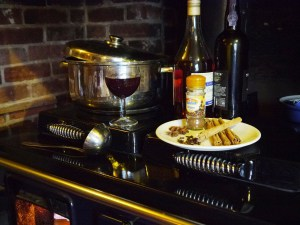 our own recipe mulled wine using whole spices