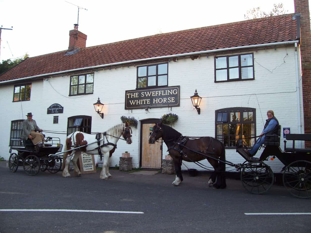 Alde Driving horse & trap rides from the pub